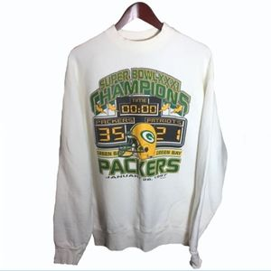 Green Bay Packers Super Bowl Sweatshirt Size XL